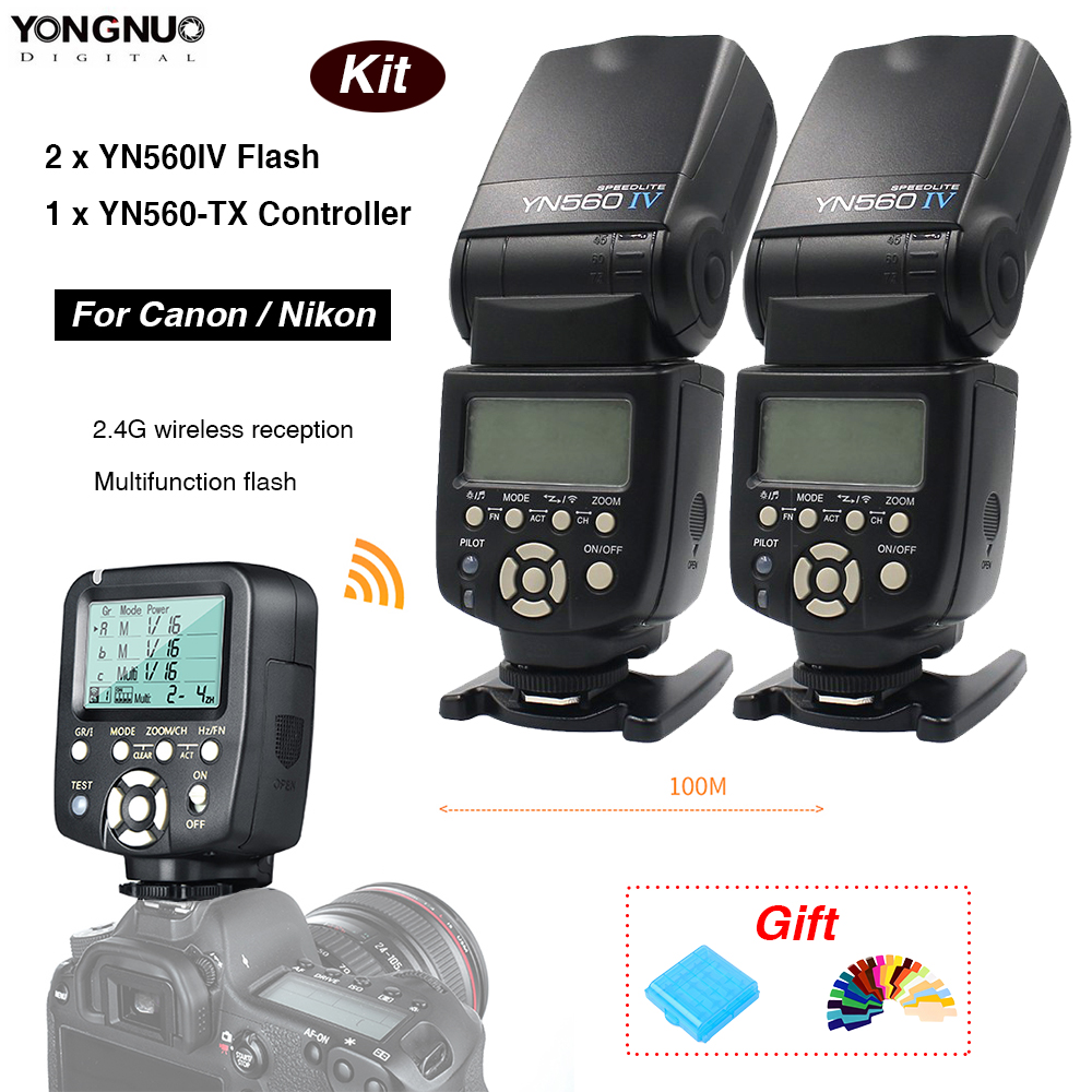 Yongnuo 1 x YN560TX LCD Bezdrátový bleskový ovladač + 2 x YN560 - Videokamery a fotoaparáty - Fotografie 1