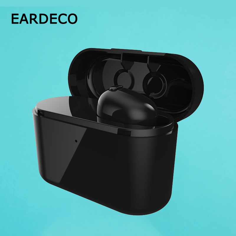 EARDECO Mini True Wireless Bluetooth Earphone TWS Headset with mic invisible earbud noise cancelling headset for phone xiaomi i9s tws wireless earphone portable bluetooth headset invisible earbud for iphone xs max xr x 8 7 6 plus for xiaomi mobile phone