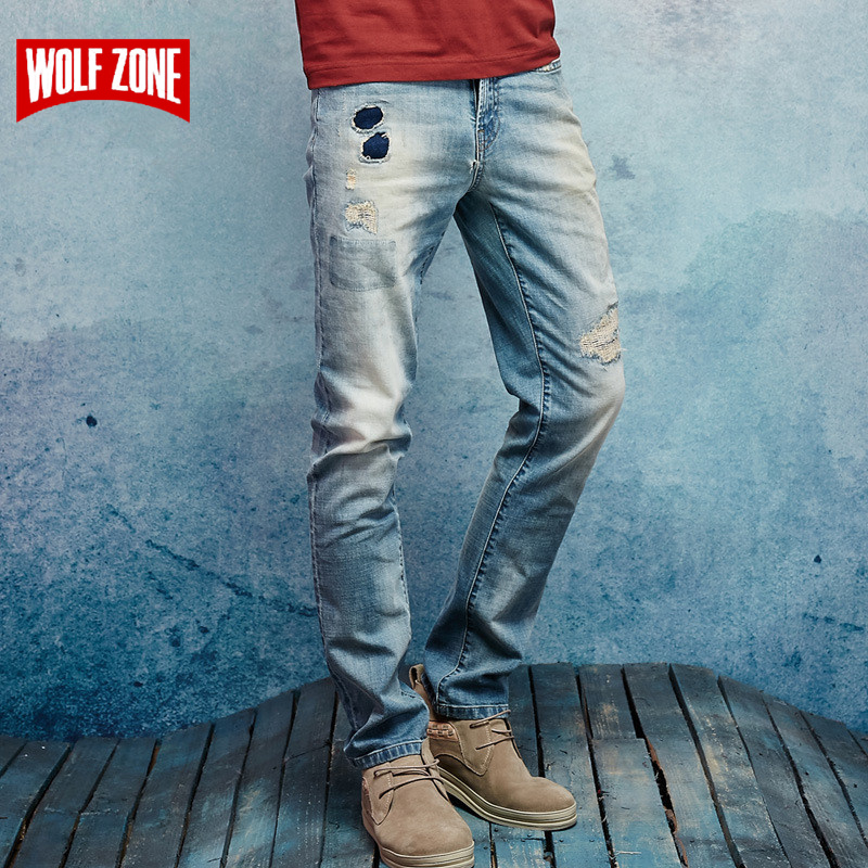 Top Fashion 2017 Spring and Summer Jeans Men Homme Mens Famous Brand New High-quality Slim Straight Males Mid Full Length Pants