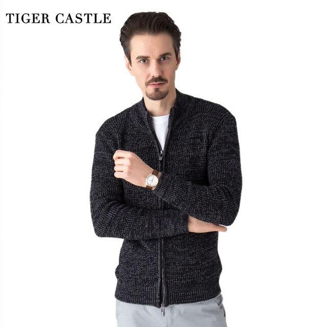 Tiger Castle для мужчин модные шерстяной свитер мужской вязаный