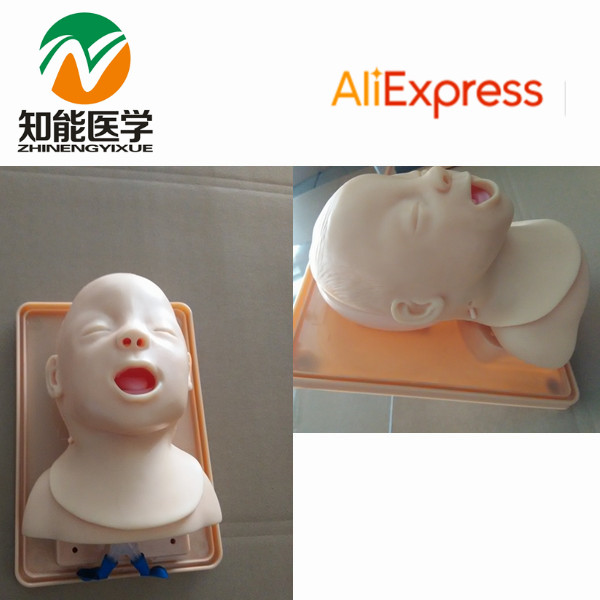 BIX-J3A Advanced Infant Trachea Intubation Training Model WBW121 iso economic newborn baby intubation training model intubation trainer