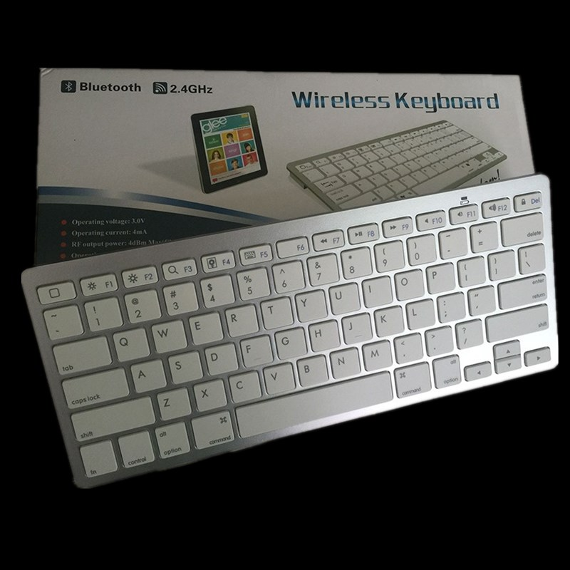 301b23e39fd Ultra Slim Wireless Keyboard Chiclet Keys Bluetooth 3.0 for Ipad Iphone  Macbook PC Computer Android Tablet