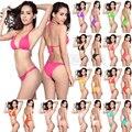 Biquíni frete Grátis 2016 verão new Hot pure color sexy mulheres bikini set bandage swimsuit Brasil victoria swimwear Promoção
