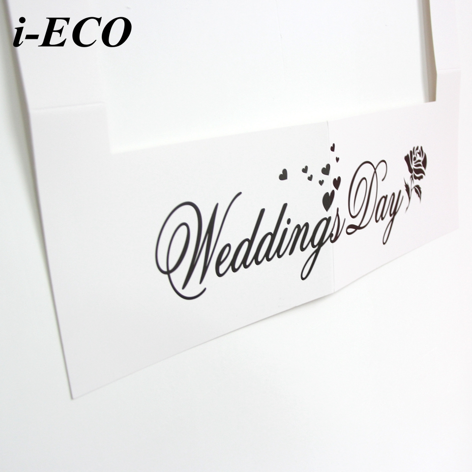 1PC Wedding Day Photo Frame DIY Photo Props Creative Photo Booth ...