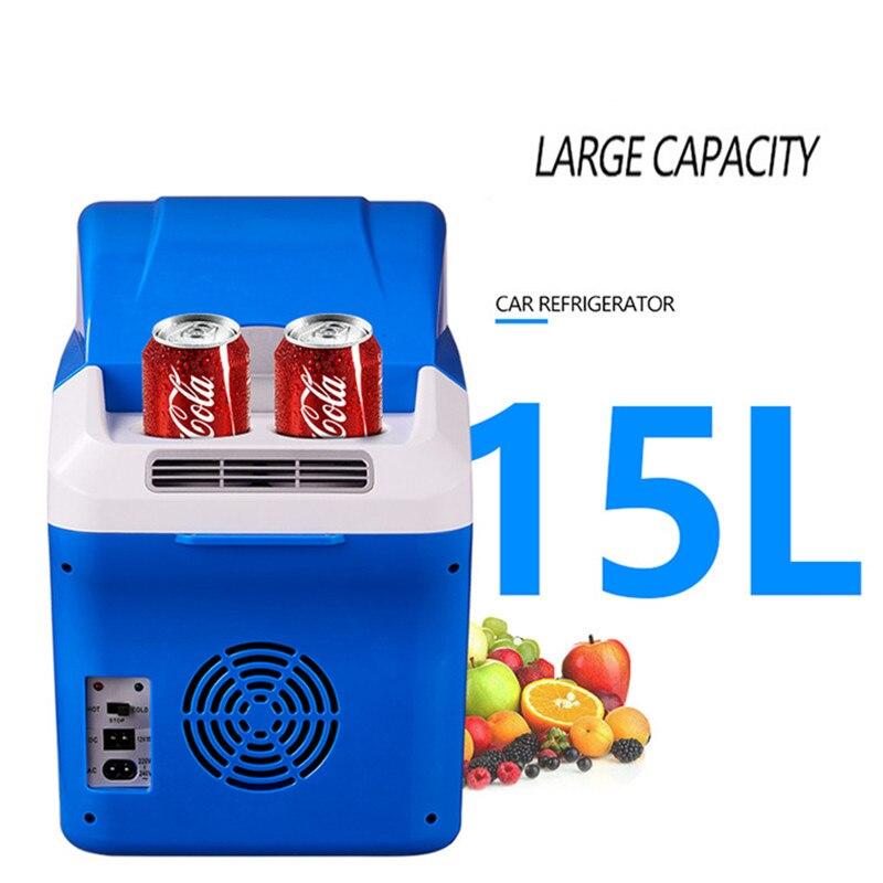 Hcool Портативный 12 В 15L Авто Путешествия Холодильник Высокое качество ABS мини холодильник Multi Функция дома кулер морозильник теплые