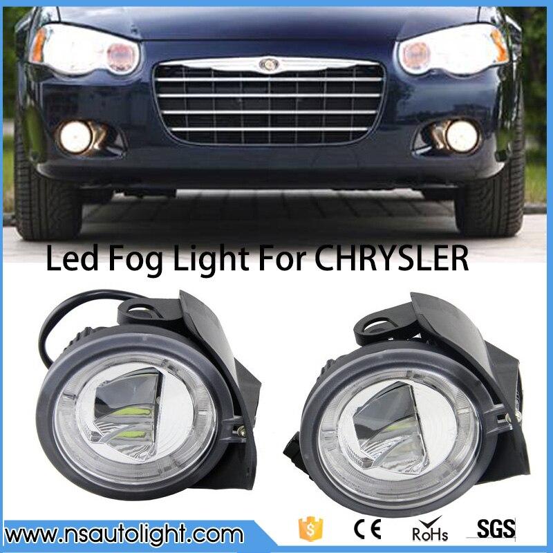цены Ultra Bright Round 12V LED DRL Daytime Running +Fog Light For CHRYSLER PACIFICA /SEBRING CONVERTIBLE 04-06/SEBRING SEDAN