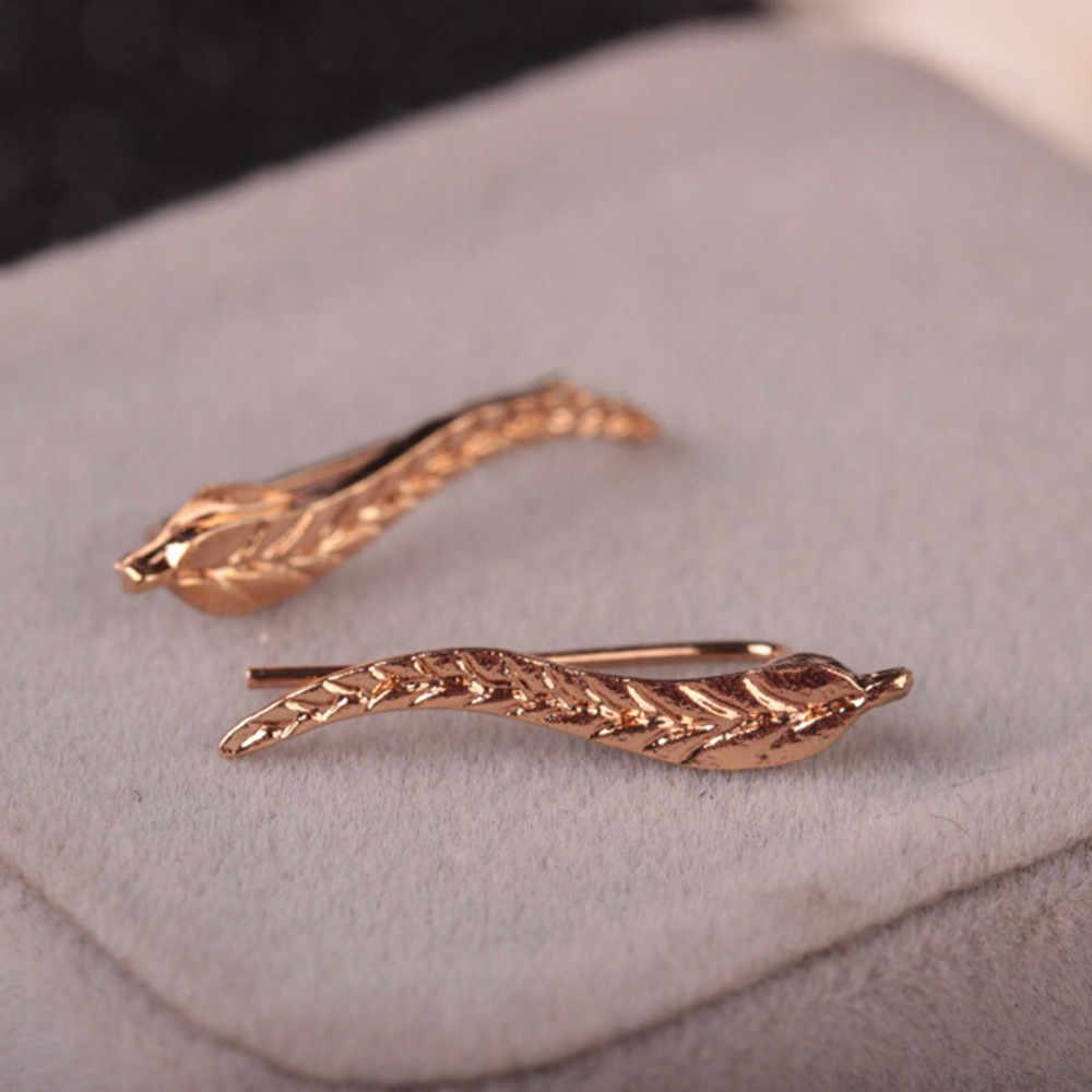 Neue Design Mode Legierung Ohrringe Für Frauen Ohrringe Pendientes Flawless Metall Blatt Ohrringe Stilvolle Ohr Clip Schmuck Bijoux