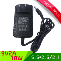 1pcs Universal ac 100-240V dc 9V 2A power supply  US power adapter with 5.5*2.5mm jack