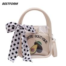 BESTFORM Transparent Handbag Women Leather Jelly Womens Small Bags Luxury Mini Crossbody Shoulder Bag Female Fashion Tote