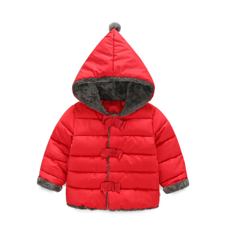 Winter Kids Infant Warm Outerwear Brand Fashion Tops Girl Down Parkas Cotton-Padded Coat Children's Thick Clothing Kids Clothes