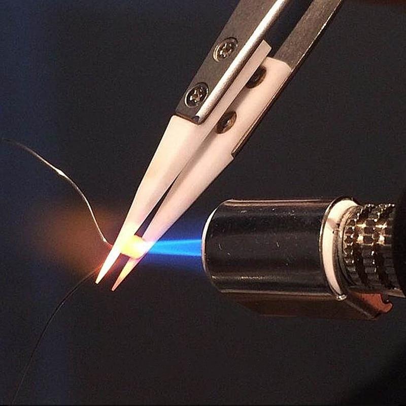 1 db precíziós kerámia csipesz antisztatikus rozsdamentes - Kézi szerszámok - Fénykép 4