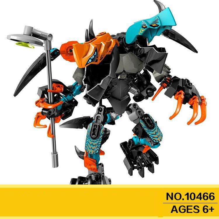 Купить с кэшбэком 10466 Splitter Beast Vs. Furno Evo Hero Factory 6 Brain Attack Robot Invasion Building Blocks Compatible 44021 Brick Toy