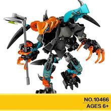 10466 Splitter Beast Vs. Furno Evo Hero Factory 6 Brain Attack Robot Invasion Building Blocks Compatible 44021 Brick Toy