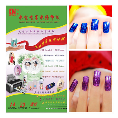 50pcslot a4 paper inkjet water slide decal paper for nail art 50pcslot a4 paper inkjet water slide decal paper for nail art transparent prinsesfo Image collections