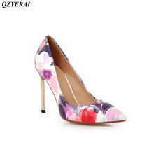 QZYERAI New metal high heel womens single shoes high heels sexy women's shoes European and American fashion style