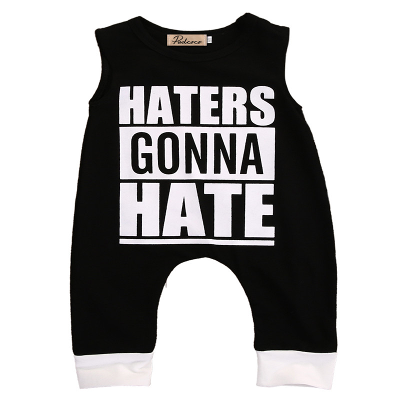 Newborn Infant Kids Clothes Toddler Baby Boy Clothes Sleeveless Romper Jumpsuit Playsuit Outfits Romper Casual 0-4T