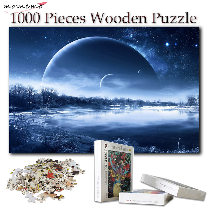 MOMEMO Wooden Puzzle Toys Creativity 1000 Pieces Jigsaw Puzzles for Adults Puzzle Games for Kids Children Educational Toys