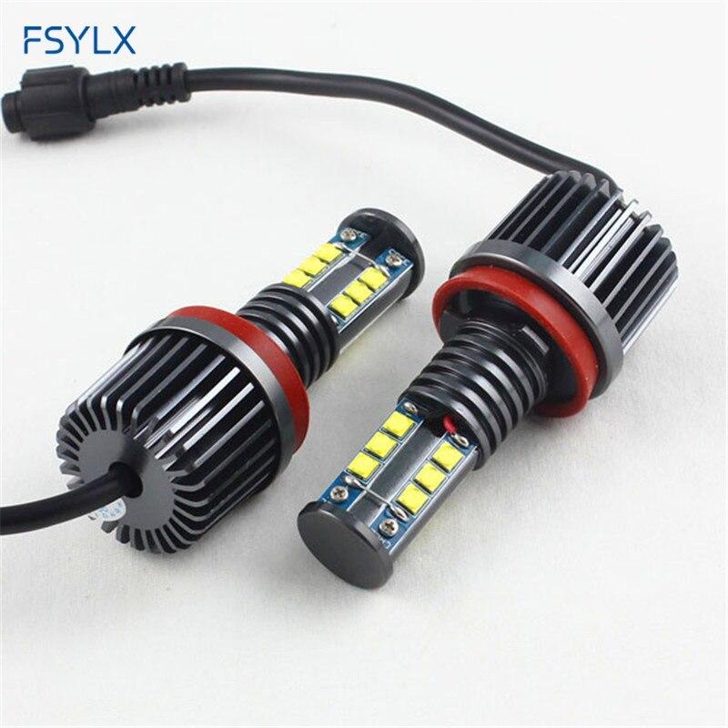 Fsylx H8 120 W LED Marker LED Angel Ojos para BMW X5 E70 X6 E71 E90 e91 e92  m3 E60 e93 e84 X1 e89 CANbus LED faros Ángel Ojos en Coche Conjunto ... eb089352d004