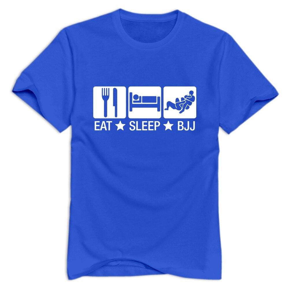 Cheap Wholesale Eat Sleep Bjj 02 Brazilian Jiu Jitsu Men T Shirt