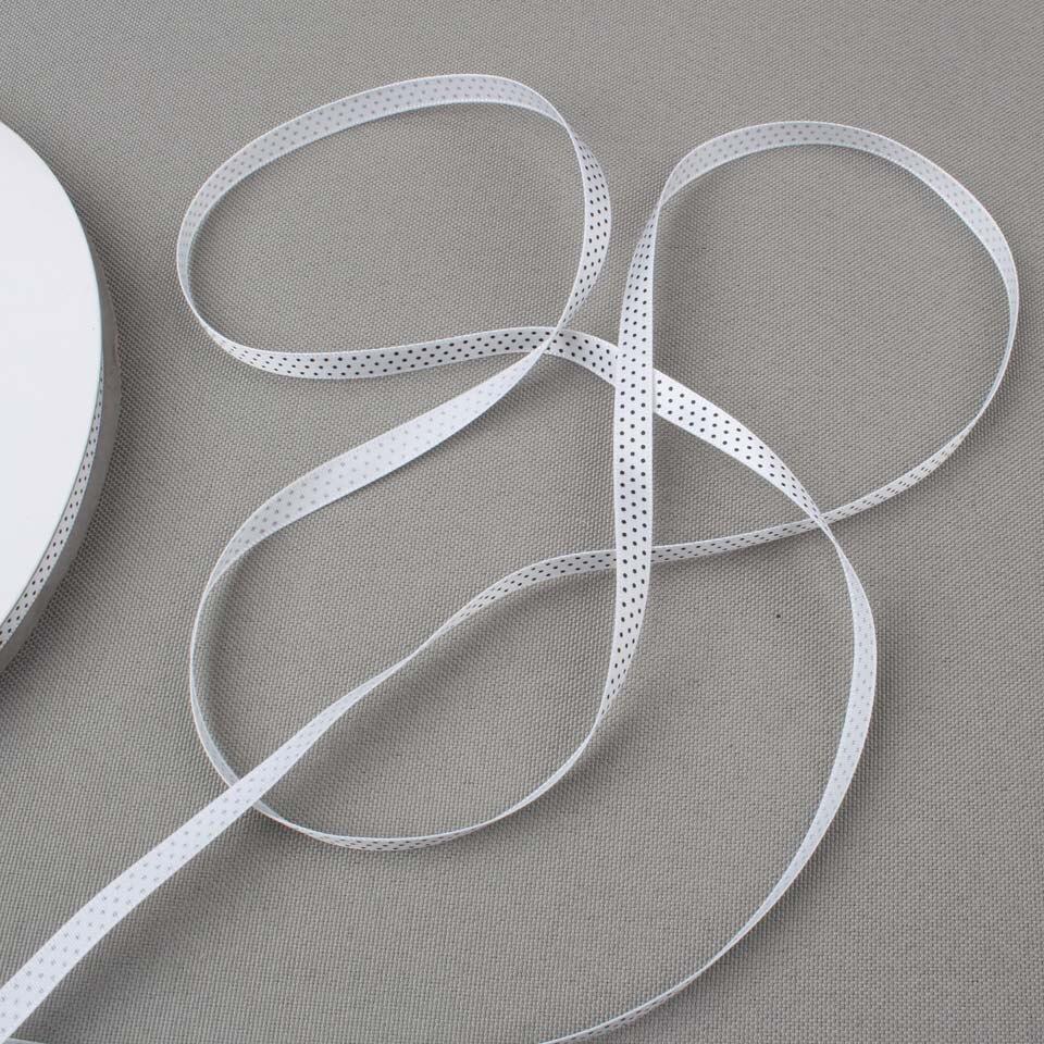 1/4 дюймов 6 мм черные точки атласные ленты с рисунком пояс Подарочная упаковка DIY украшения 100 ярдов рулон минимальный заказ доступны разные цвета