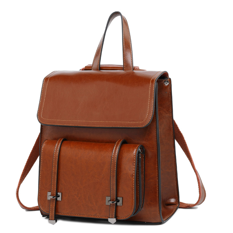 100% Genuine Leather Backpack For Girls School Bag Cow Leather Korean Style Women Backpack Female 2019 Soft Retro College Ladies100% Genuine Leather Backpack For Girls School Bag Cow Leather Korean Style Women Backpack Female 2019 Soft Retro College Ladies