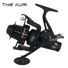 TheKuai Dual Brake CNC Rocker Fishing Reel Carp Fishing Reel Spinning Fishing Reel 13+1BB 5.2:1 Casting Double Brakes