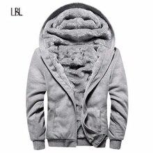 Russian Size Men's Coat Warm hooded Jacket Men Inner Velvet  Autumn Winter Wool Brand Streetwear Male Slim Fit jaqueta masculin