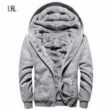 1855fedc278 Русский размеры для мужчин пальто теплая куртка с капюшоном внутренний  бархат осень зима шерсть бренд уличная