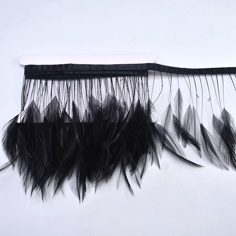 2 Meters Leather pink Rooster Feathers Trims Fringe Sewing clothing plume 4 6inches Natural feathers DIY dress Party decoration in Feather from Home Garden