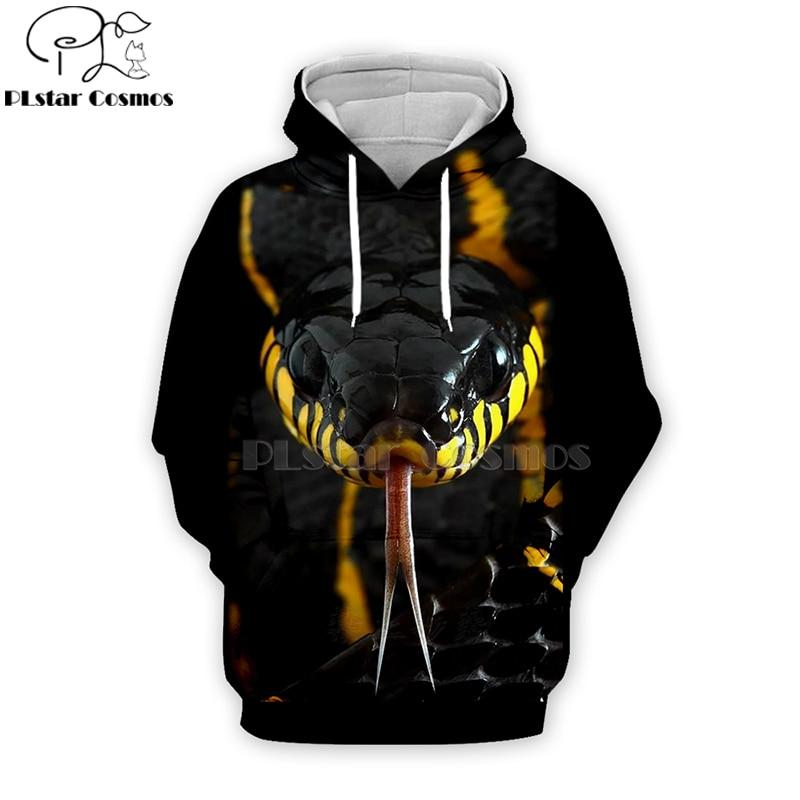 Viper Dendroaspis Polylepis Snake 3d Hoodies/Sweatshirt/Zipper Unisex Women Casual Coseplay Long Sleeve Streetwear -1