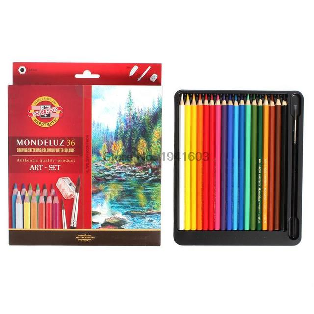 Koh I Noor Mondeluz 36 Water Soluble Pencil Aquarell Drawing Color Pencils For