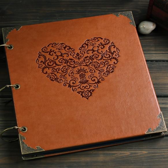 Quality Leather Cover 12 Inch Big Vintage Handmade DIY