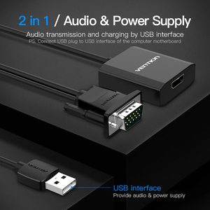 Image 5 - Vention VGA to HDMI Converter 1080P Male to Female With Audio VGA HDMI Digital Analog Adapter for Laptop HDTV Projector HDMI VGA