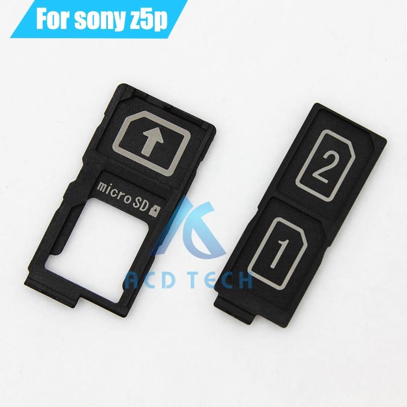 10pcs/lot Original New Replacement For Sony Xperia Z5 Plus Z5 Premium E6883 5.5 Dual Sim Card Reader Holder Sim Tray