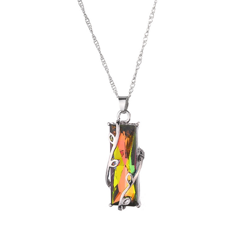 RAINBOW CRYSTAL PENDANT NECKLACE 2