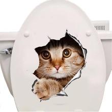 Cats 3D font b Wall b font font b Sticker b font Toilet font b Stickers
