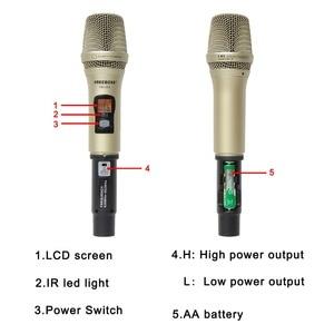 Image 4 - FREEBOSS FB U03 1M 1 Way 100 channel Metal Handheld Transmitter Wireless Microphone Camera Microphone Party Karaoke Microphone