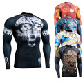 3D Prints Shirt Long Sleeve with Rashguard Men's Compression Shirts Workout Fitness Man's Thermal Under Tops Crossfit Wear