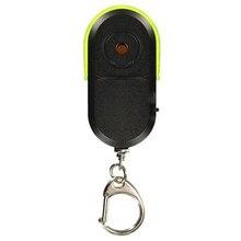Беспроводной анти-потеря сигнализации ключ искатель брелок для ключей с локатором свисток Звук светодиодный светильник вещи трекер