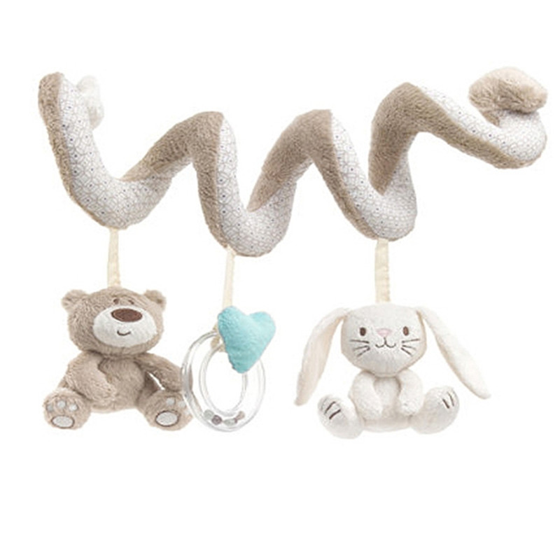 Baby Bed Hanging Toys Mobiles Multifunction Crib Spiral Activity Stroller Car Seat Cot Pram Toy Play Plush Doll In Rattles From