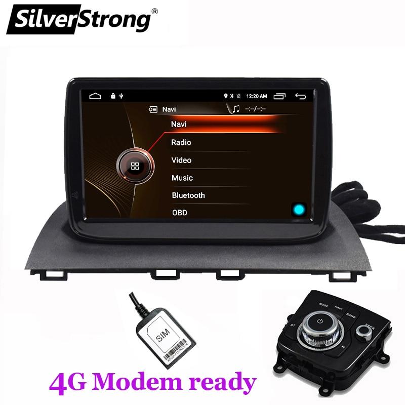 SilverStrong 9 polegada Android9.1 4G LTE modem Rádio GPS Para Novo mazda Axela 3 Mazda3 Rádio Do Carro de apoio à Navegação TPMS