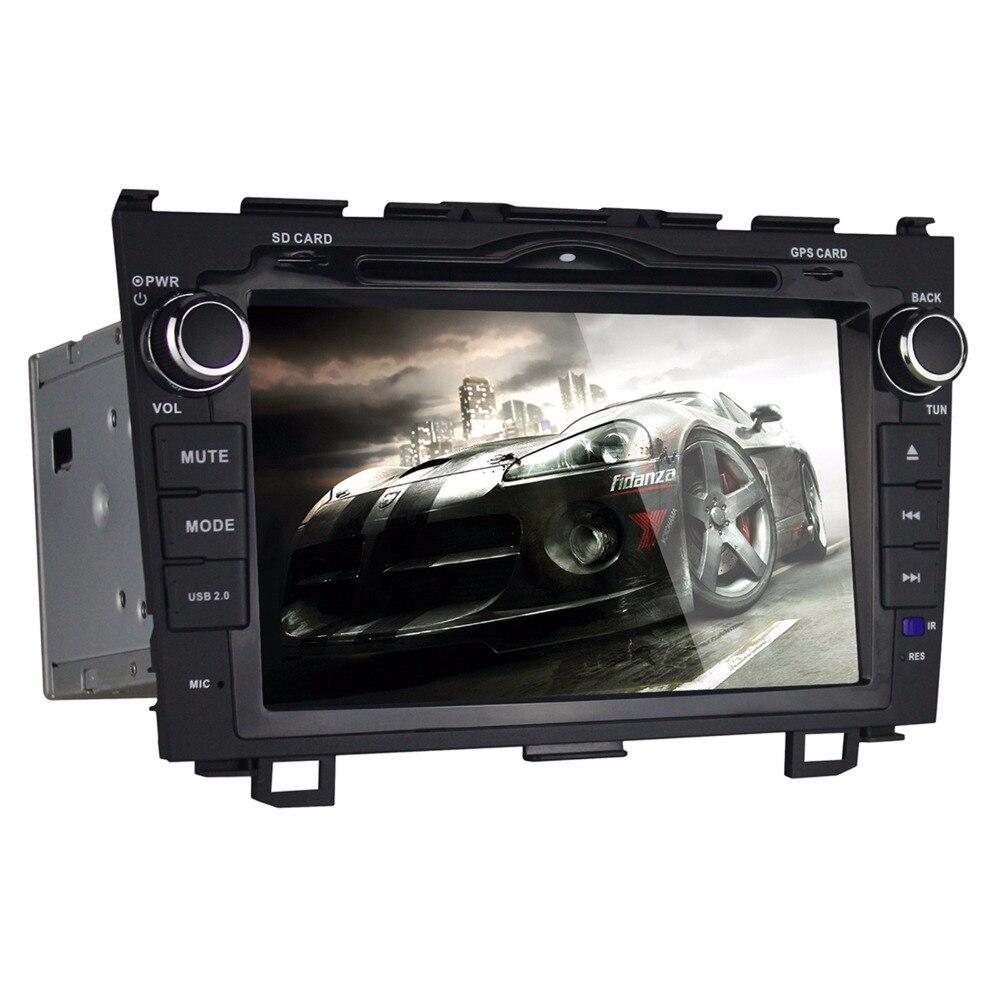 Beiinle Android 4.4.4  GPS Navigator DVD Radio  QUAD CORE 16G 2 Din Car 1024*600  for  Honda CRV 2008-2011