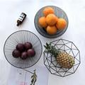 Скандинавском стиле железное искусство фрукты домашнее хранилище корзина Органайзер чаша для овощей закуски конфеты кухонный стол обеденный украшение инструмент - фото