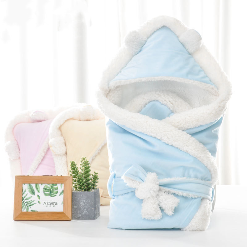 Image 4 - Solid Soft Newborns Swaddle Wrap Baby Sleeping Bag Infant Envelope Baby Sleeping Bag Stroller Sleeping Bag Kids Sack Blanket-in Sleepsacks from Mother & Kids