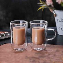 Double Wall Glass Tea Cup 100ml Coffee Mug