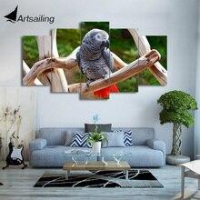 HD с 5 шт. холсте Животные попугай Книги по искусству картины настенные панно для гостиной современный Бесплатная доставка/CU-2002C