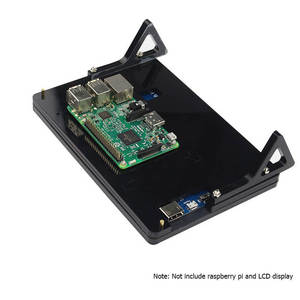 Image 4 - Elecrow 7 بوصة LCD حالة التوت بي شاشة عرض حامل دعم الاكريليك الإسكان قوس ل التوت بي 3 7 بوصة LCD الأسود