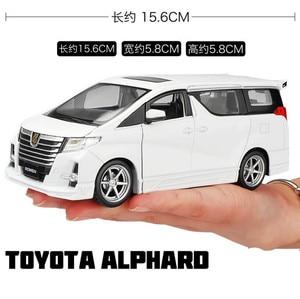 Image 3 - גבוהה סימולציה טויוטה Alphard MPV 1:32 סולם סגסוגת למשוך בחזרה רכב צעצוע, אוסף דגם, משלוח חינם