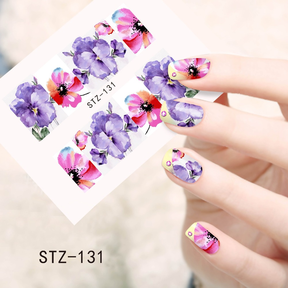 Stickers Decals Nail Stickers Nail Art Decals Fashion - 1sheets fashion hot designs fancy beauty nail art stickers decals water transfer full cover wraps diy tools trstz131