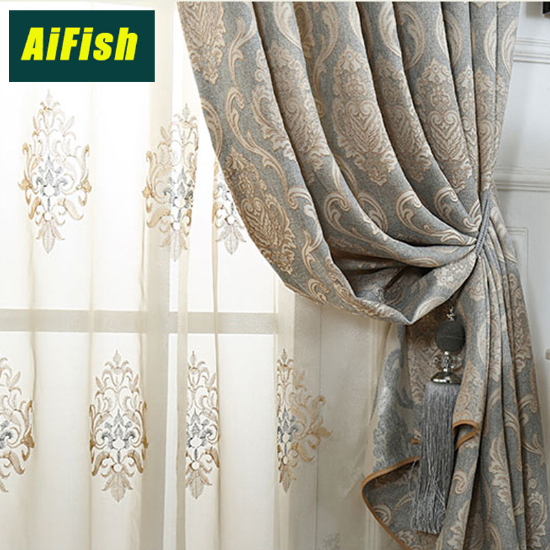 US $7.26 34% OFF|Elegant Curtains for Bedroom Window Tulle Panels Curtains  Blinds Sheer fabric Tulle Curtains for living room home decor wp245&30-in  ...